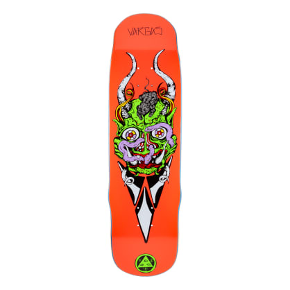 Welcome Skateboards Daniel Vargas Maligno on Effigy Skateboard Deck Hot Coral - 8.8""