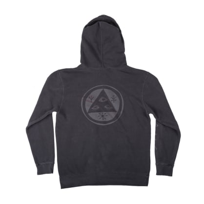 Welcome Skateboards Tali-Scrawl Pigment-Dyed Hoodie - Black - Shift-Ink