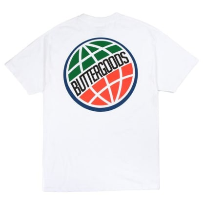 Butter Goods 3D World Wide Logo Tee White
