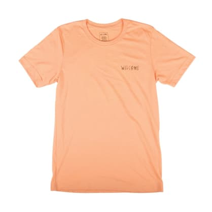 Welcome Skateboards Talisman Halftone T-Shirt - Peach - Black