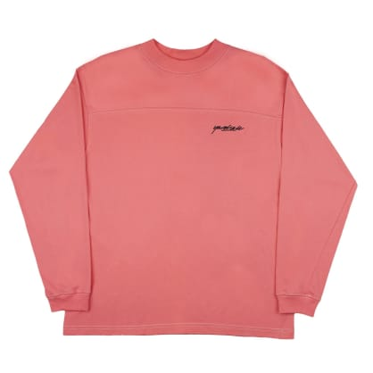 Yardsale Script Polo Long Sleeve - Pink