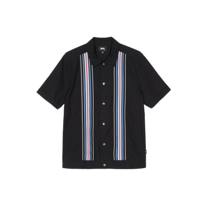 Stussy - Striped Knit Panel Shirt
