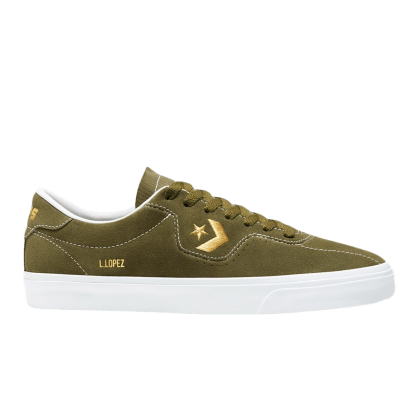 Converse Cons Louie Lopez Pro Skate Shoes - Dark Moss / Gold / White