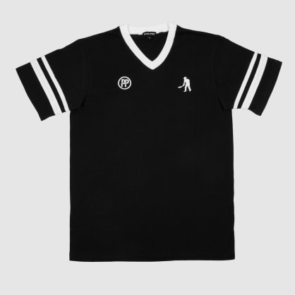 """PASS~PORT """"WORKERS STRIPES"""" JERSEY BLACK / WHITE"""