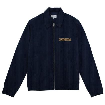 The National Skateboard Co. Corduroy Harrington Jacket - Navy