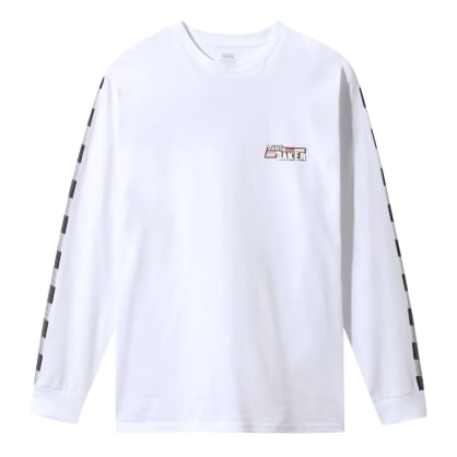 Vans x Baker Speed Check Long Sleeve T-Shirt - White