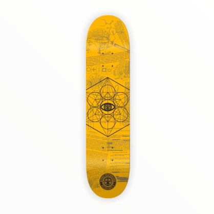 "Karma MKUltra Yellow Skateboard Deck 8.125"""