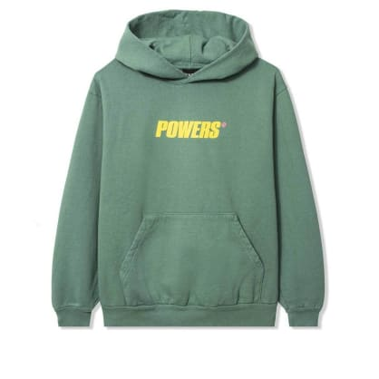 Powers Spellout Pullover Hoodie - Green