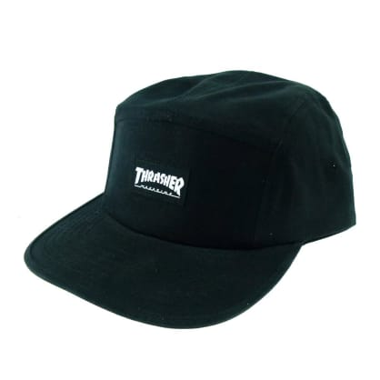 Thrasher Skate Mag Logo 5 Panel Cap - Black
