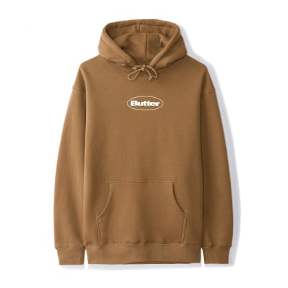 Butter Goods Puff Logo Pullover Hoodie - Saddle