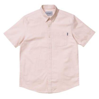 Carhartt WIP S/S Button Down Pocket Shirt - Powdery