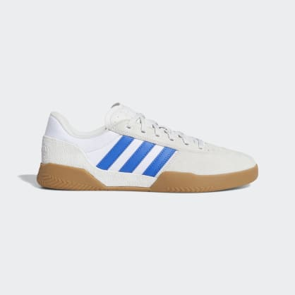 Adidas City Cup Skateboard Shoes - Crystal White/Blue/Gum 4