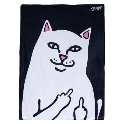 Rip N Dip Lord Nermal Throw Blanket - Black