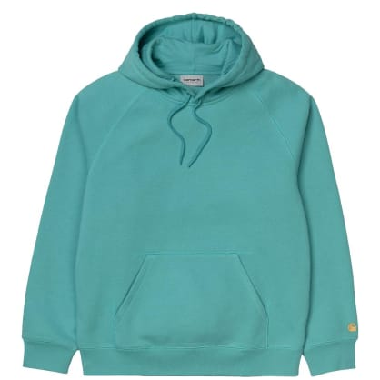 Carhartt WIP Chase Hoodie - Frosted Turquoise / Gold