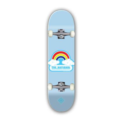 "The National Skateboard Co. Double Rainbow Complete Skateboard 7.75"""