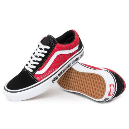 Vans x Baker Old Skool Pro Shoes - Black/White/Red