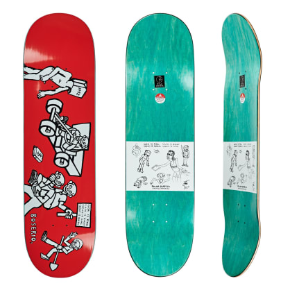 Polar Skate Co Nick Boserio Cash Is Queen Red Skateboard Deck - 8.625""