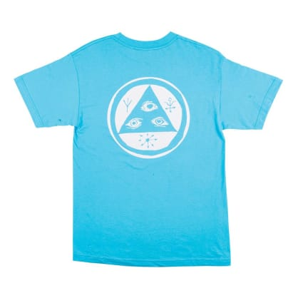 Welcome Talisman Mono T-Shirt - Blue-White Puff Print