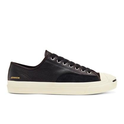Converse Cons Jenkem Jack Purcell Pro OX Skateboard Shoes - Black/Egret/Black