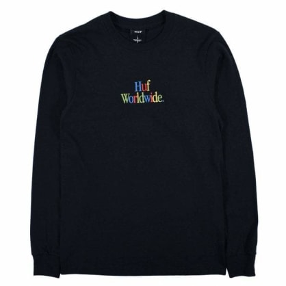 HUF - HUF WOZ Embroidery T-Shirt Long Sleeve | Black
