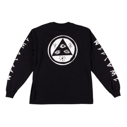 Welcome Skateboards Tali Scrawl Long Sleeve T-Shirt - Black / White
