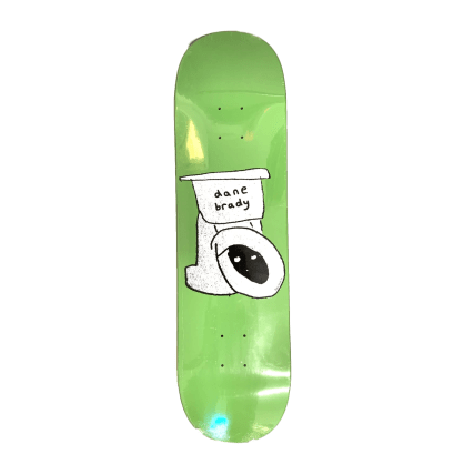 Polar Skate Co Dane Brady Toilet Green Skateboard Deck - 8.375""