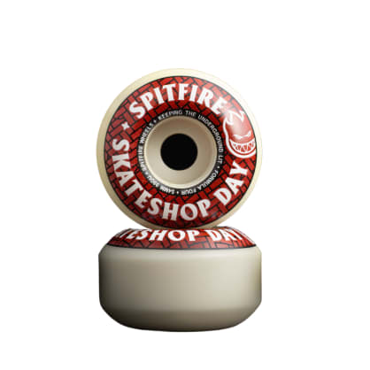 Spitfire Formula Four Classic Skateshop Day Wheels - 52mm