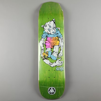 "Welcome 'Teddy - Nora Vasconcellos Pro on Wicked Princess' 8.125"" Deck (Grey / Green Stain)"