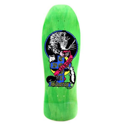 Dogtown Tim Jackson 1980 Reissue Venice Rat Skateboard Deck Lime Stain - 10.25 x 30.5125