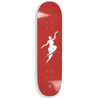 """Polar Skate Co - No Comply Red Deck 7.875"""" Wide"""