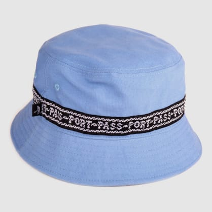 """PASS~PORT """"BARBS"""" BUCKET CAP PALE BLUE"""