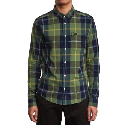 RVCA Spanky Okapi Plaid Long Sleeve Shirt
