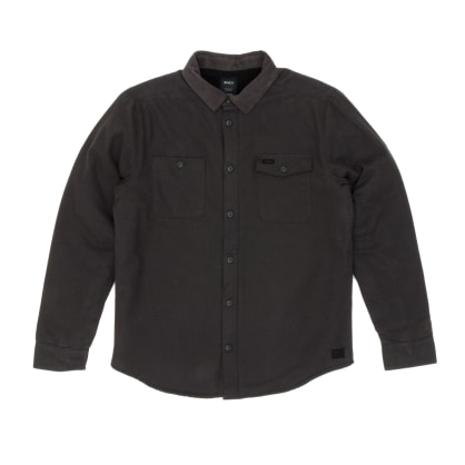 RVCA Victory Long Sleeved Over Shirt - Pirate Black