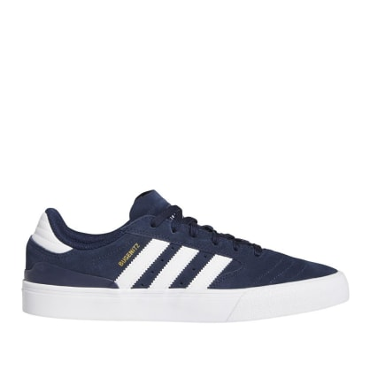 adidas Skateboarding Busenitz Vulc II Shoes - Collegiate Navy / Cloud White / Gold Metallic