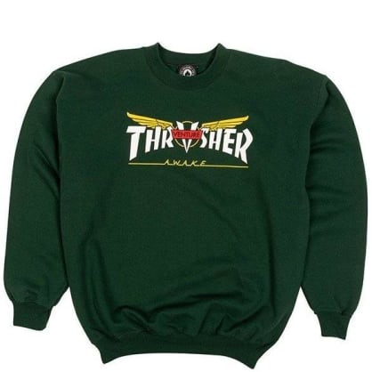 Thrasher Venture Collab Sweatshirt - Forest Green