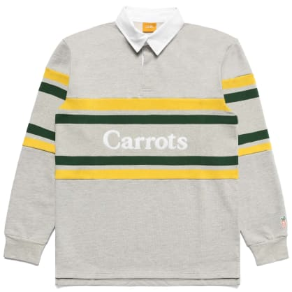 "CARROTS -""WORDMARK STRIPED RUGBY SHIRT"" (HEATHER GREY)"