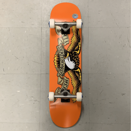 AntiHero Skateboards Orange Eagle Logo Complete 7.75 Medium