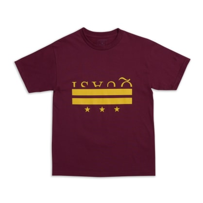 Quasi Skateboards District T-Shirt - Burgundy