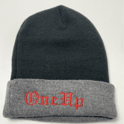 One up beanies Old English