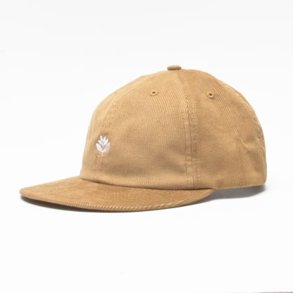 Magenta Corduroy 6 Panel Cap Honey