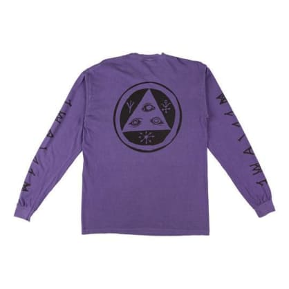 Welcome Skateboards - Tali-Scrawl Garment-Dyed Long Sleeve (Grape/Black)