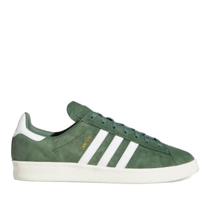 adidas Skateboarding Campus ADV Shoes - Green Oxide / Ftwr White / Chalk White