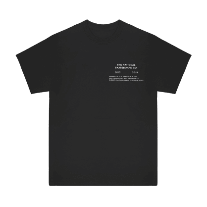 The National Skateboard Co. Tapes T-Shirt - Black