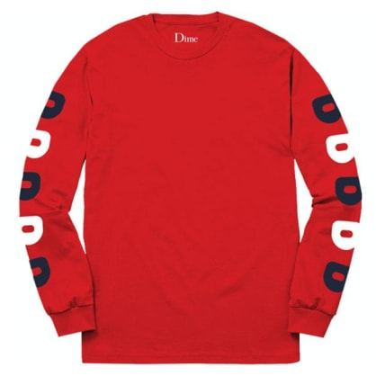 "Dime ""D"" Long Sleeve Tee Red"