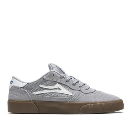 Lakai Cambridge Suede Skate Shoes - Light Grey / Gum