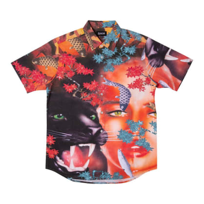 Rip N Dip Koi Button Up Shirt - Multicoloured