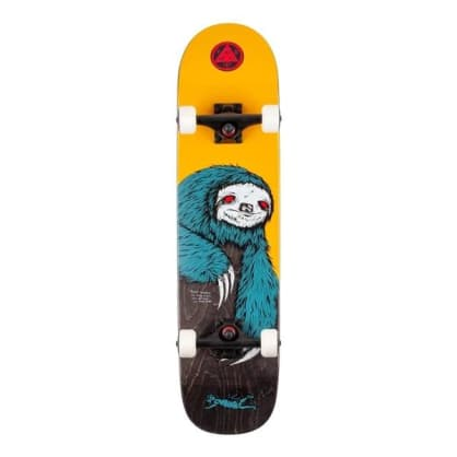 """Welcome skateboards - Sloth Complete on Scaled Down Bunyip 7.75"""" (Gold/Black Stain)"""