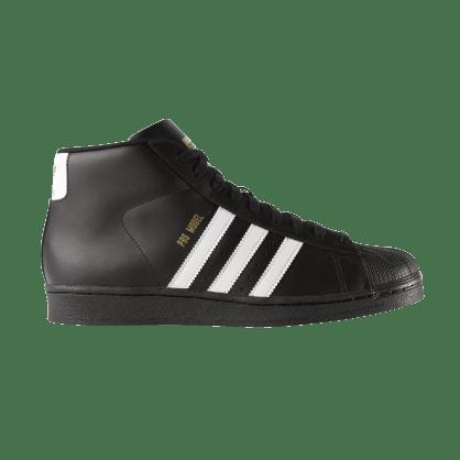 adidas Pro Model Skateboarding Shoe - Core Black/FTWR White/Gold Met