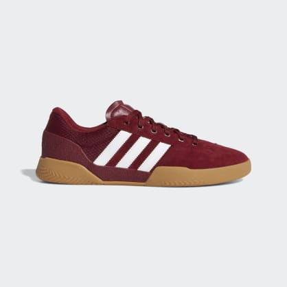 Adidas City Cup Shoes - Collegiate Burgundy/Cloud White/Gum