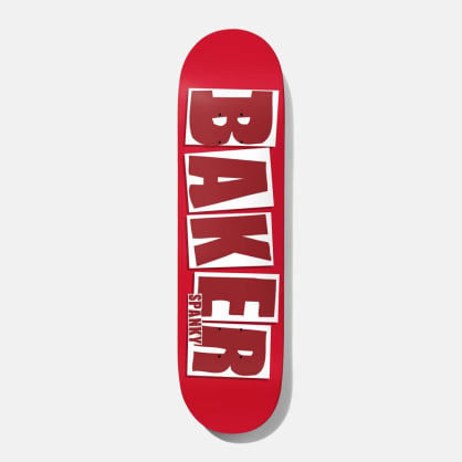 Baker Skateboards Spanky Brand Name Red Skateboard Deck - 8.25""